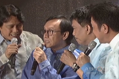 OPM Icons Rey Valera, Rico J. Puno, Marco Sison and Hajji Alejandro reunite on the ASAP stage
