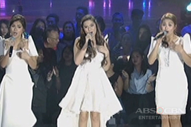 Maris, Alexa and Edray sing