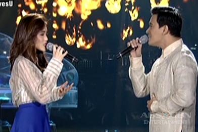 Toni and Erik sing