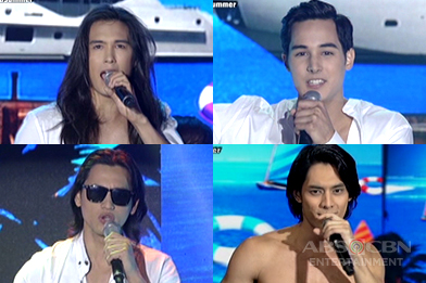 Kapamilya hotties Tommy, Tanner, Luis and Sam made the crowd go wild with their performance