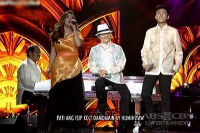 Angeline Quinto and Darren Espanto sing