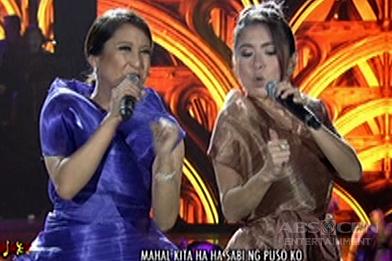 Jolina Magdangal and Antonette Taus sing