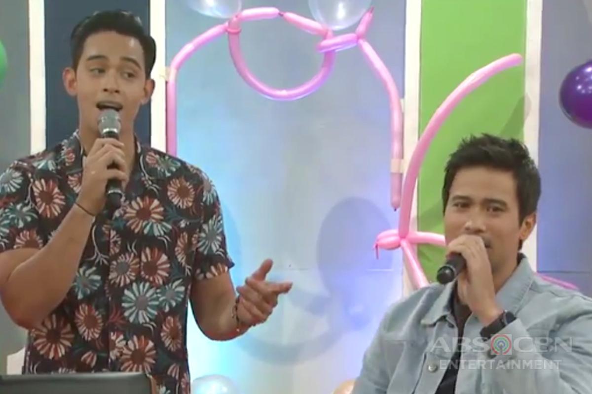 Diego Loyzaga and Sam Milby sing 'Hindi Kita Iiwan'