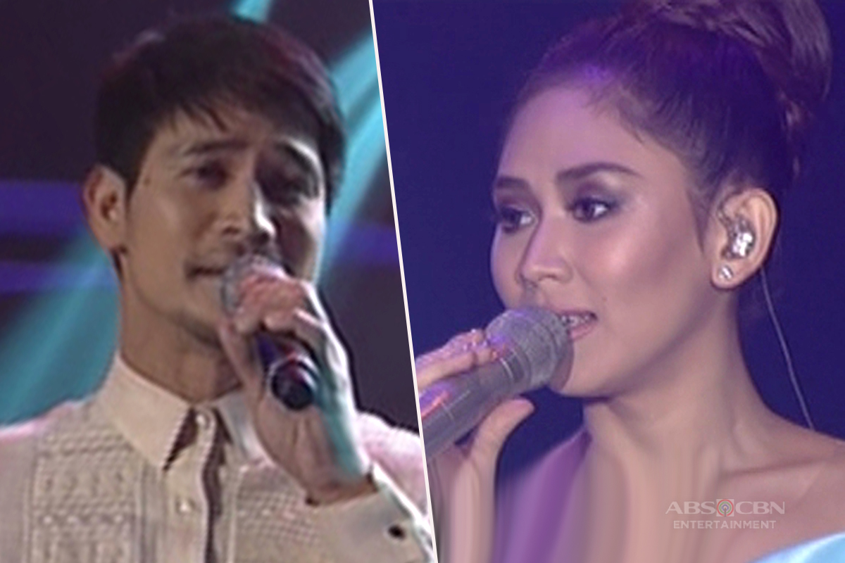 Piolo and Sarah sing
