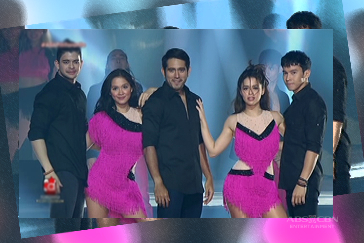 Maja, Yassi, Gerald, Rayver and Enchong fire up the ASAP stage with their