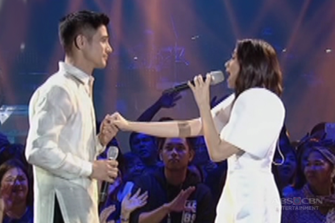 The stars of 'The Breakup Playlist,' Sarah Geronimo and Piolo Pascual, sing 'Paano Ba Ang Magmahal'
