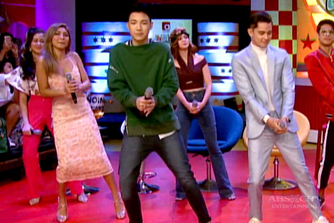 WATCH: James and Nadine groove to the newest dance craze