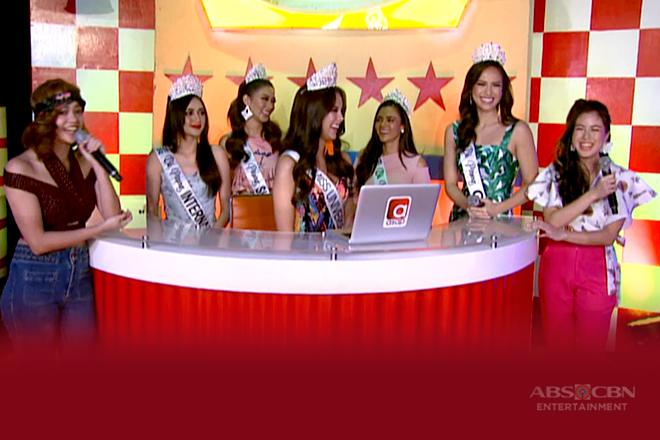 Kisses, kinilig nang makaharap ang Bb. Pilipinas 2018 winners