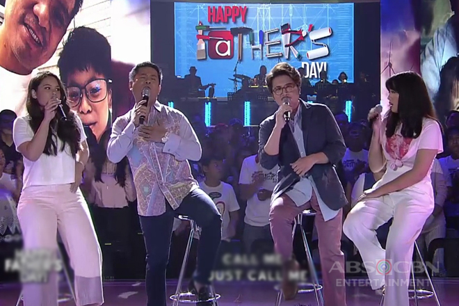 Ogie Alcasid and Janno Gibbs collaborate with their daughters in one heartwarming number
