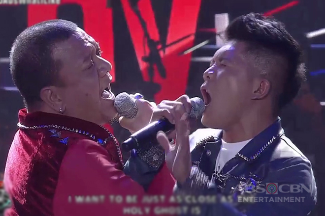 Jovit Baldivino and Mitoy Yonting face off each other in a rock batle on ASAP Versus