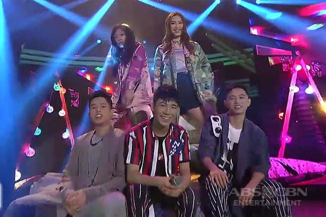 Ylona, Isabela, Kyle, Jeremy and Darren's concert treat on ASAP G