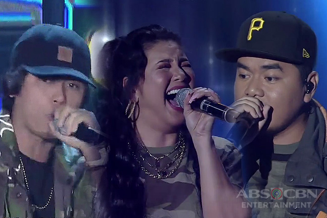 Regine collaborates with Gloc-9 & Abra in a one-of-a-kind raptastic performance