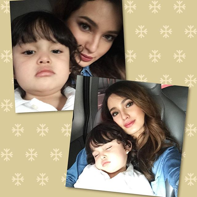 PERFECTLY CAPTURED! Precious moments of Sarah Lahbati with her 'little boss'