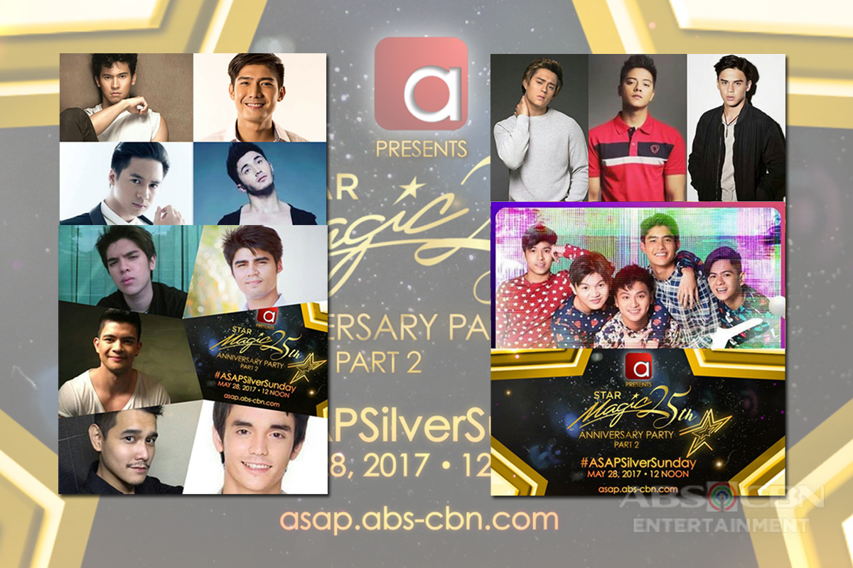 "Anime, Giggerboys, Gimme 5 & ASAP Boyfriendz Reunite for Star Magic Silver Anniversay Show on ""ASAP"""