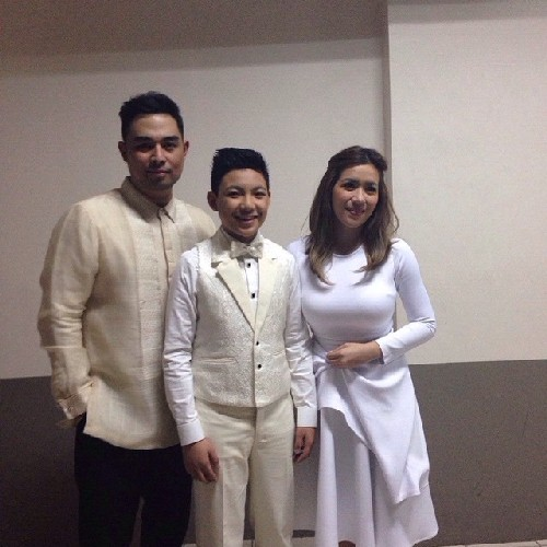 Angeline, Jed and Darren at Pope Francis' Encounter with the Youth in UST
