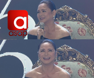 Charo Santos first time on the ASAP stage