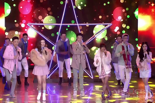 ASAP G! in a christmas-themed opening number