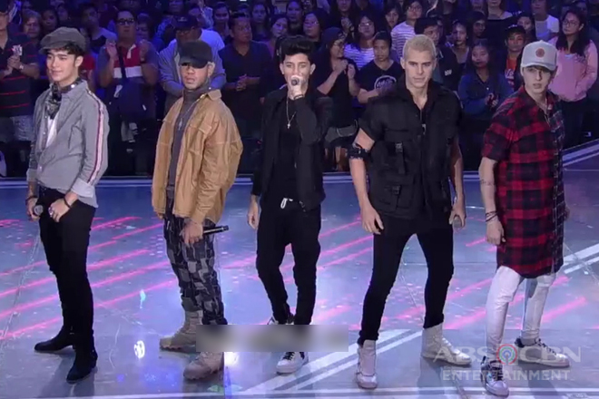International latino boyband CNCO performs on ASAP