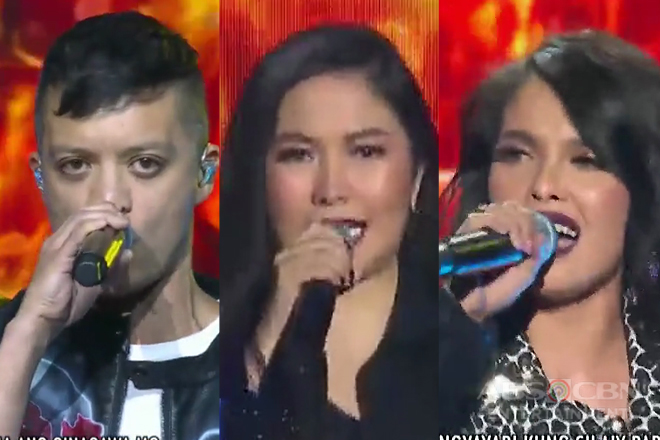 Bamboo, KZ & Yeng in a word-class Pinoy rock prod number