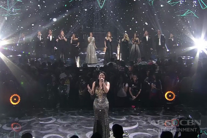 Regine Velasquez performs with singing champs in one spectacular number!