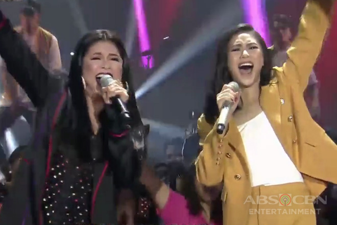 Regine and Sarah G show they can do rap and rock!
