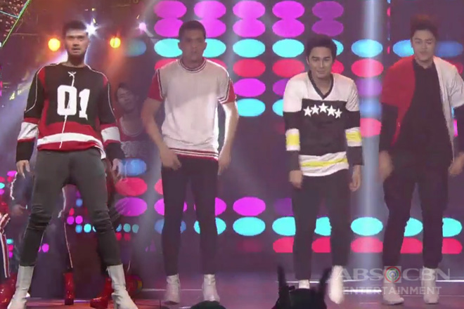 Billy Crawford together with Hashtags McCoy, Rayt & CK in a HEEL-tastic dance performance!