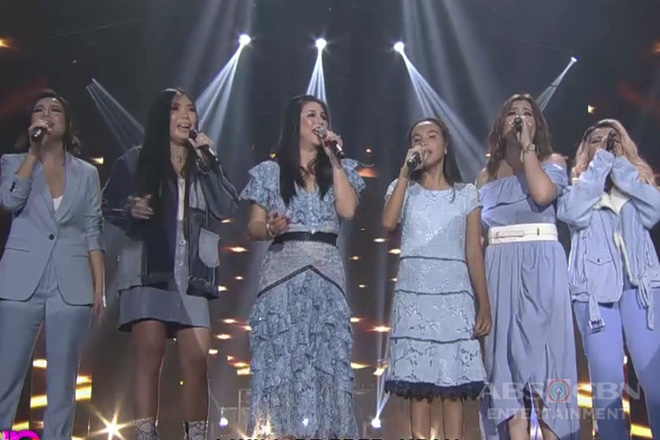 Inspiring blind singer Elsie Balawing takes the center stage with Pinay divas!