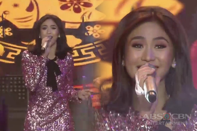 """Sarah G. opens ASAP Natin To's party with energy-filled rendition of """"I Should Be So Lucky"""""""
