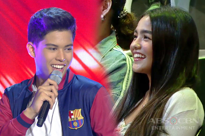 Spotted: Andrea Brillantes supporting Kyle Echarri on iWant ASAP!