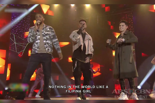Billy Crawford, James Reid and Marcus Davis sing their new single 'Filipina Girl' on ASAP Natin 'To