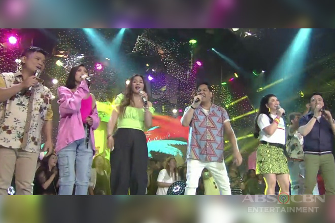 Kapamilya singing icons in a summer throwback opening number
