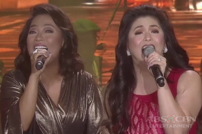 """Regine and Jaya blend their voices in an emotional rendition of """"Habang May Buhay"""""""