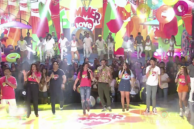 Kapamilya stars perform the newest ABS-CBN summer station ID on ASAP Natin 'To Image Thumbnail