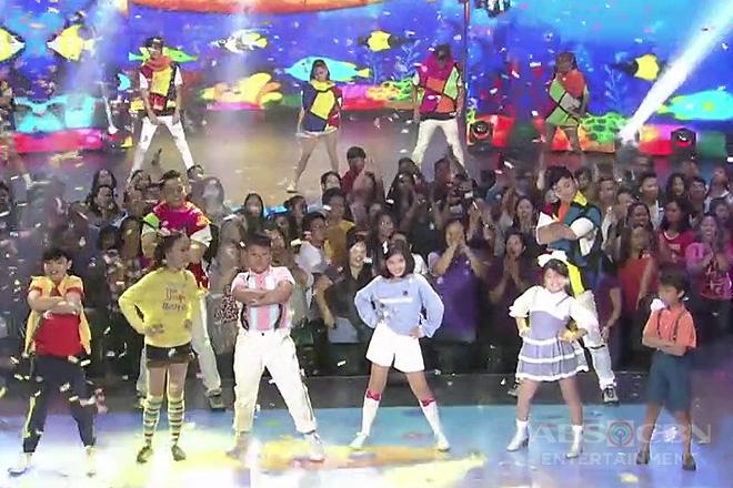 Viral dancer JB Lazaro dances with the kiddie superstars of ABS-CBN